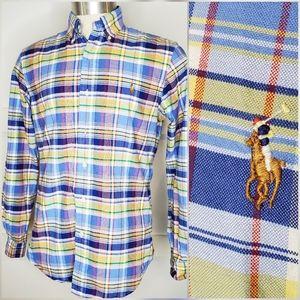 Ralph Lauren Polo Blue Plaid Button Down Shirt